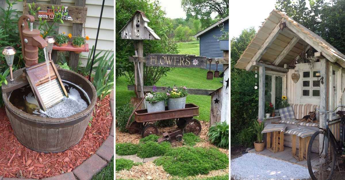 30 Simple And Rustic DIY Ideas For Your Backyard And ... on Rustic Backyard Ideas id=36718
