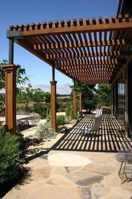 outdoor room Pergola Design Ideas23