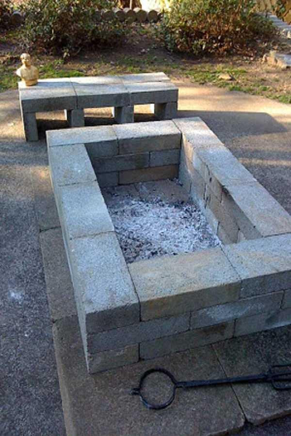 square Fire Pit Ideas10