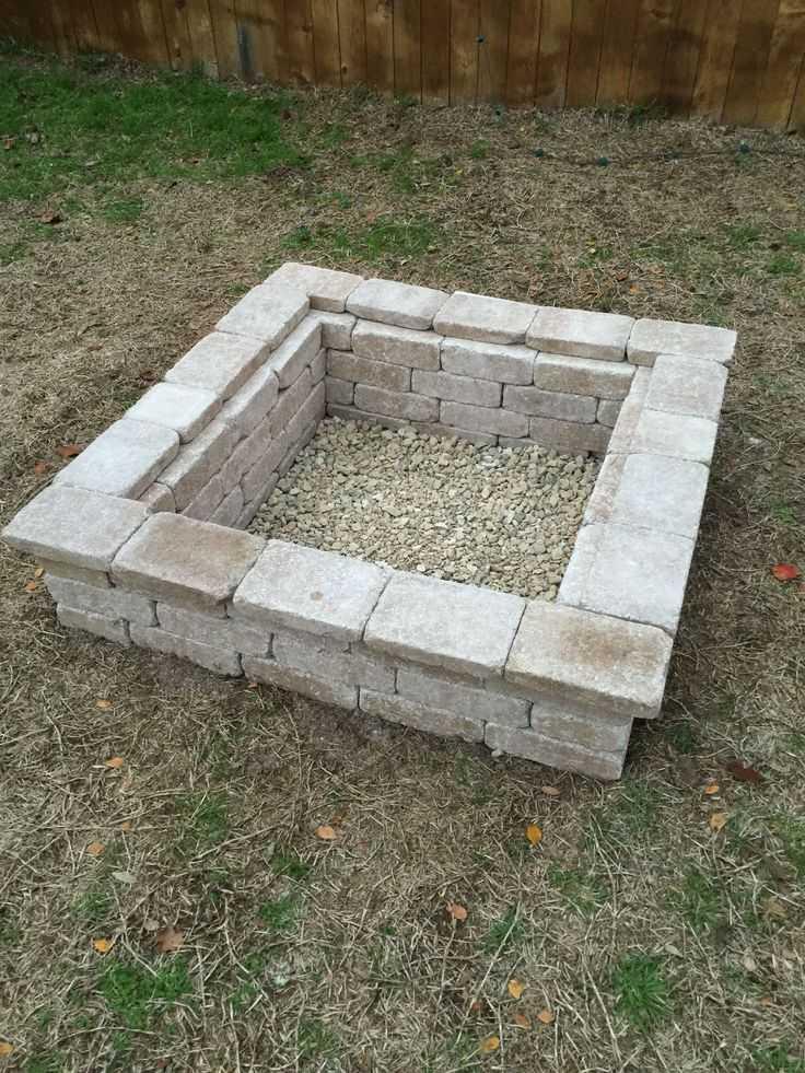 square Fire Pit Ideas11