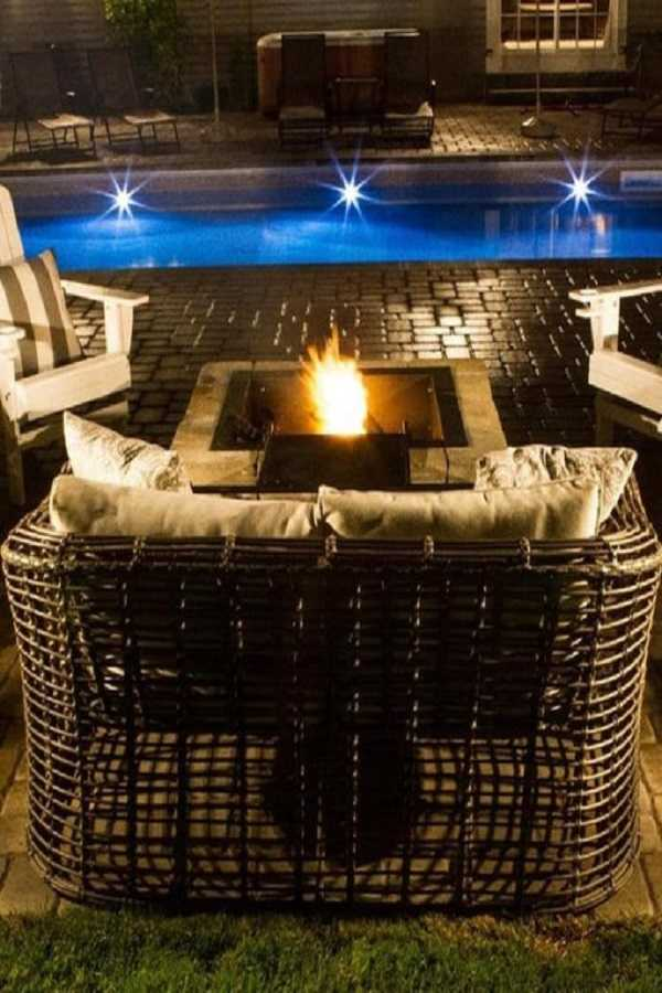square Fire Pit Ideas13