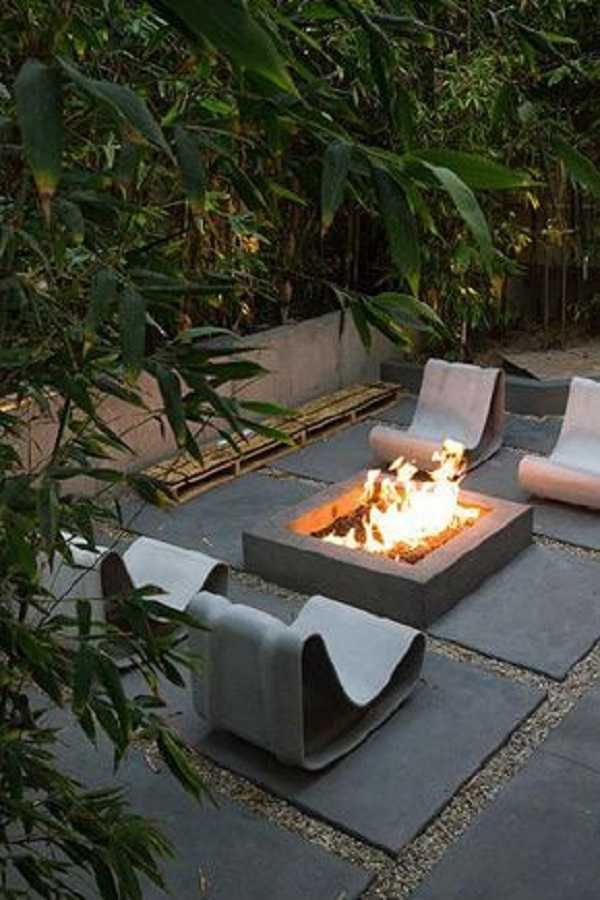 square Fire Pit Ideas18