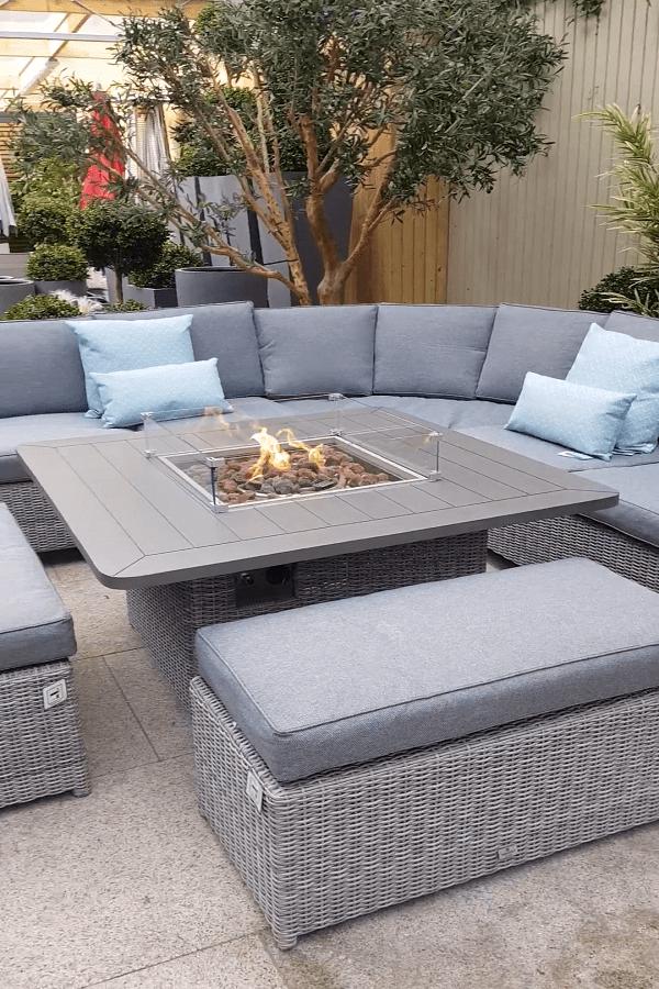 square Fire Pit Ideas23