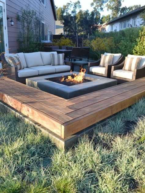 square Fire Pit Ideas8
